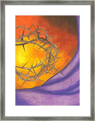 Crown Of Thorns Framed Print by Michelle Young