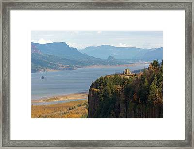 Crown Point On Columbia River Gorge Framed Print