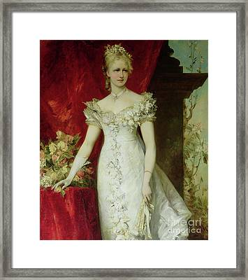 Crown Princess Stephanie Of Belgium, Consort To Crown Prince Rudolf Of Austria Framed Print