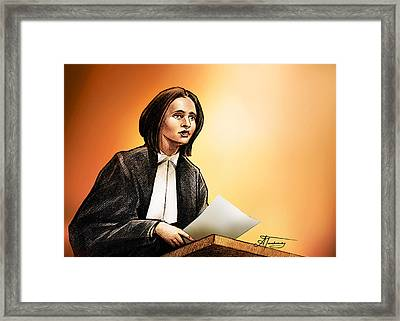 Crown Stephanie Venne Reads Daryn's Statement At The Rafferty's Sentencing Framed Print by Alex Tavshunsky