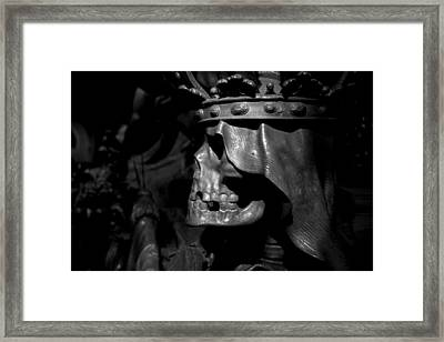 Crowned Death II Framed Print