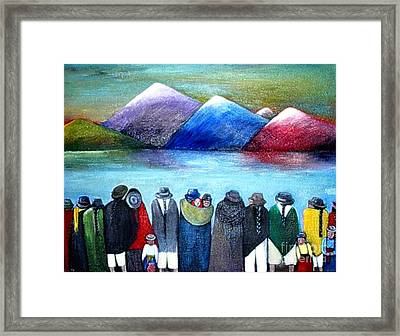 Crowned Lake Framed Print by Patricia Velasquez de Mera