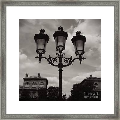 Crowned Luminaires In Paris Framed Print by Carol Groenen