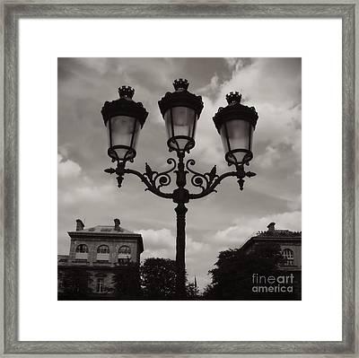 Crowned Luminaires In Paris Framed Print