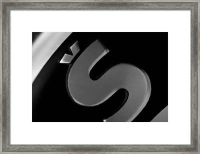 Crowned S Framed Print by Jouko Mikkola
