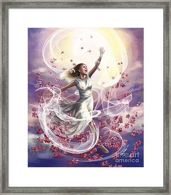 Crowned With Glory... Dancing In Glory Framed Print