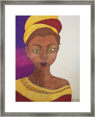 Crowning Glory Framed Print by Thais Lopes