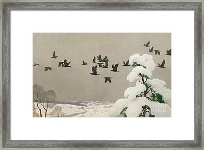 Crows In Winter Framed Print