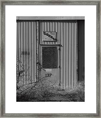 Crows Landing Base Supply Framed Print by Troy Montemayor
