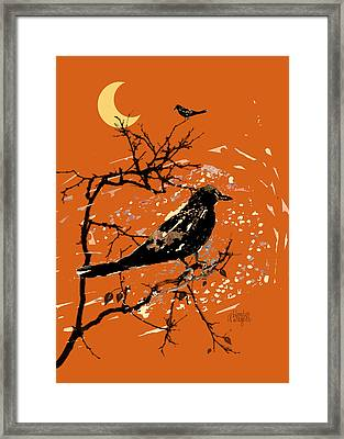 Crows On All Hallows Eve Framed Print by Arline Wagner