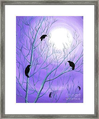 Crows On Empty Branches Framed Print by Laura Iverson