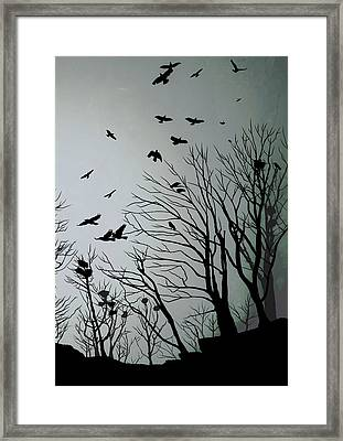 Crows Roost 2 Framed Print by Philip Openshaw