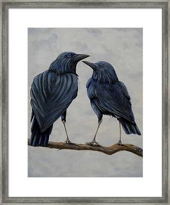 Crows Framed Print