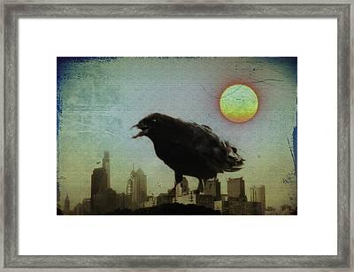 Crowzilla Framed Print by Bill Cannon