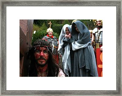 Crucification Framed Print by Keith O Rahilly