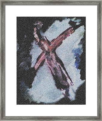 Crucifiction Framed Print by John Toxey