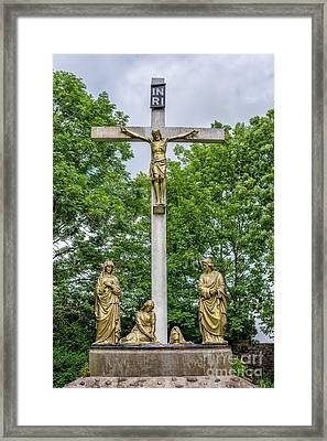 Crucified Framed Print