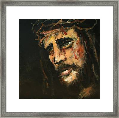 Crucified Jesus Framed Print by Carole Foret