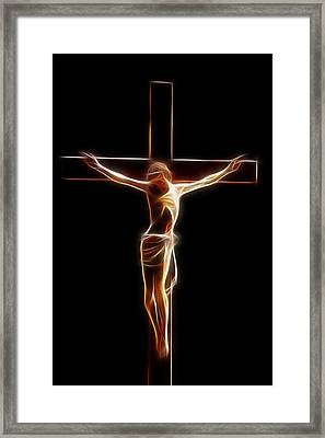 Crucified Jesus Framed Print by Steve K