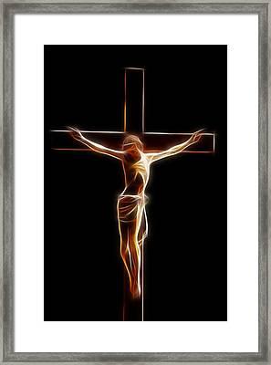 Crucified Jesus Framed Print by Stefan Kuhn