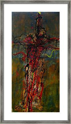 Crucified Framed Print by Paul Freidin
