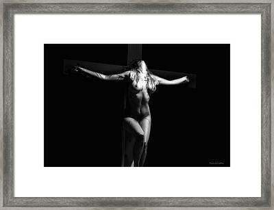 Crucified Woman Framed Print