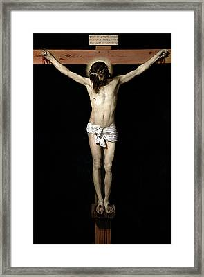 Framed Print featuring the digital art Crucifixion by Diego Velazquez