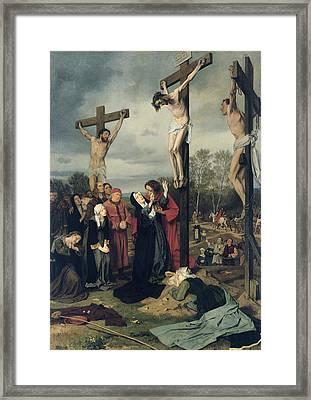 Crucifixion Framed Print by Eduard Karl Franz von Gebhardt