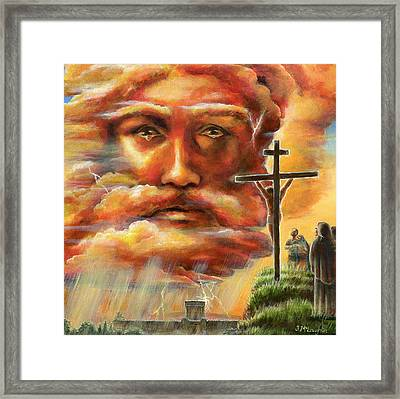Crucifixion, Good Friday Framed Print by Jenny McLaughlin