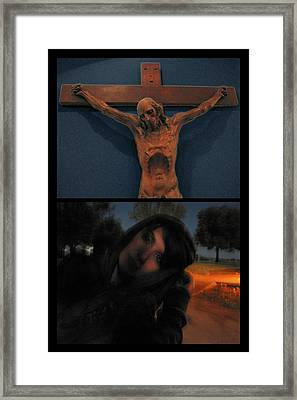 Crucifixion Framed Print by James W Johnson