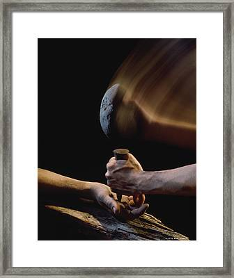 Crucifixion Framed Print by Ken Slater