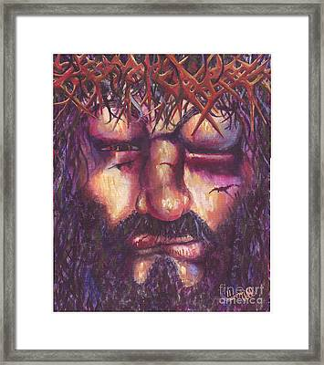 Crucifixion. Master Fully Done Framed Print