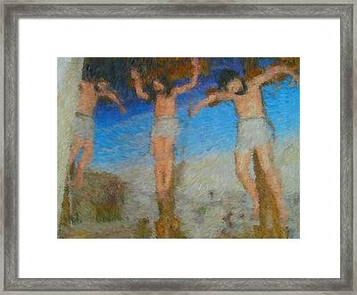 Crucifixion Framed Print by Mike La Muerte Giuliani