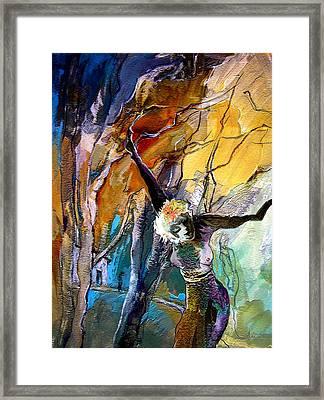 Crucifixion Framed Print by Miki De Goodaboom