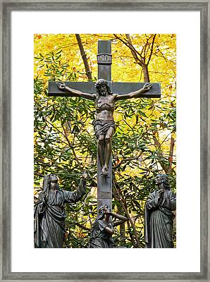 Crucifixion Framed Print by Mitch Cat