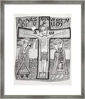 Crucifixion Of Jesus Christ. After A Framed Print