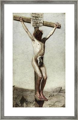Crucifixion Framed Print by Thomas Eakins