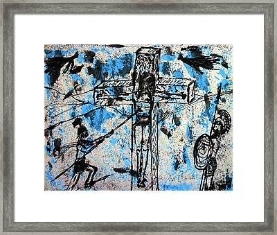 Crucifixion#1 Framed Print by Viktor Lazarev