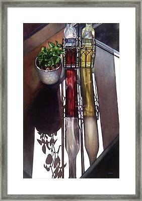 Cruets Framed Print by Rosanne Wolfe