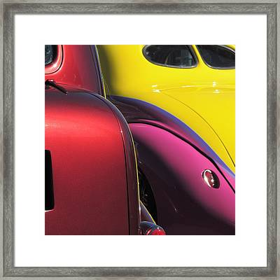 Cruise In Colors Framed Print