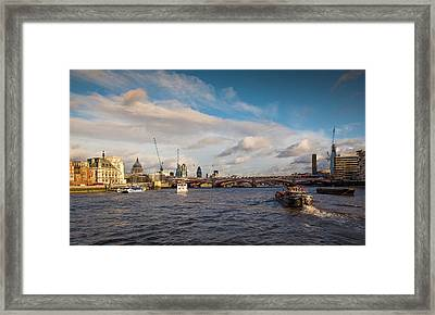 Cruise On The Thames Framed Print