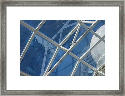 Cruise Ship Abstract Girders And Dome 2 Framed Print