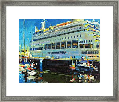 Cruise Ship Framed Print by Brian Simons