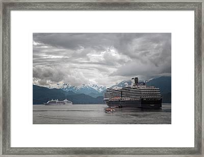 Cruise Ships In Port - Sitka Alaska 2 Framed Print