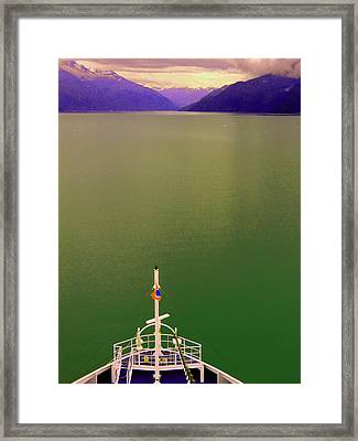 Cruise To The Sun Framed Print by Mindy Newman
