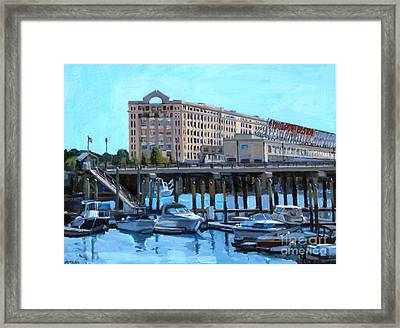 Cruiseport Boston Framed Print by Deb Putnam