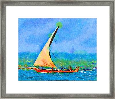 Framed Print featuring the painting Cruisin by Angela Treat Lyon