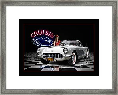 Cruisin' The Diner .... Framed Print by Rat Rod Studios