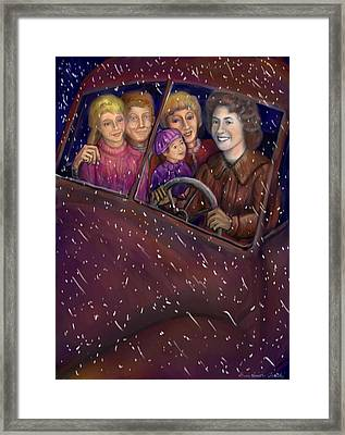 Cruisin' With The Big Kids Framed Print by Dawn Senior-Trask