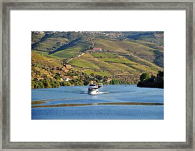 Cruising Douro River Valley Framed Print by Jacqueline M Lewis